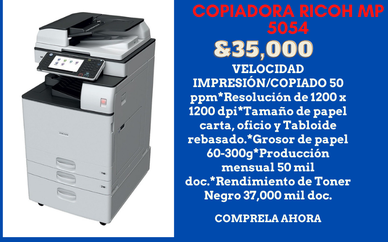 venta de copiadora ricoh mp 5054