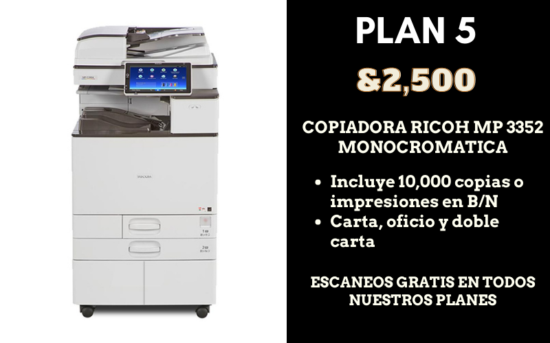 renta de copiadora ricoh doble carta en mexico df cdmx